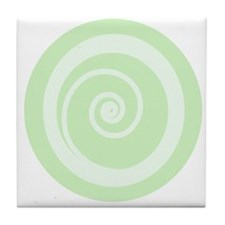 Retro Green Zen Tile Coaster