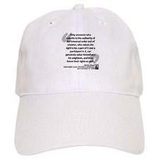 Havel Rights Quote Baseball Cap