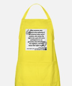 Havel Rights Quote Apron