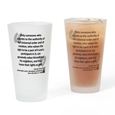 Havel Rights Quote Drinking Glass