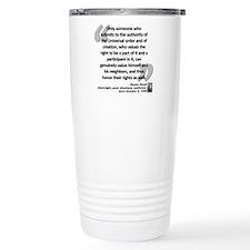 Havel Rights Quote Travel Mug