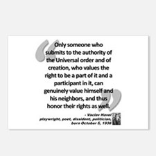 Havel Rights Quote Postcards (Package of 8)