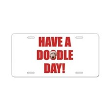 Doodle Day Labradoodle Aluminum License Plate