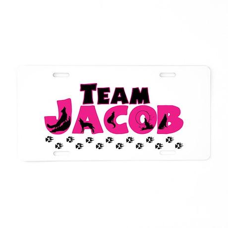 Team Jacob pink & black Aluminum License Plate