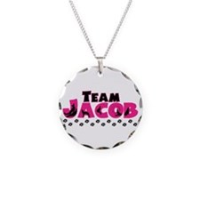 Team Jacob pink & black Necklace