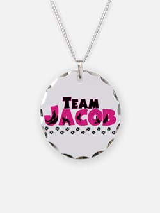 Team Jacob pink & black Necklace