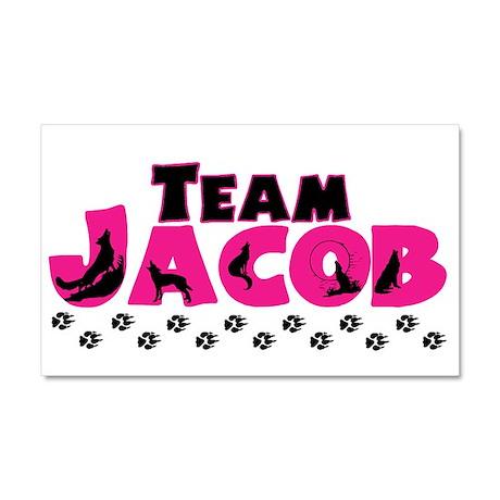 Team Jacob pink & black Car Magnet 20 x 12
