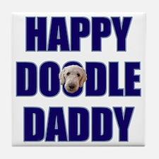 Goldendoodle Dad Tile Coaster