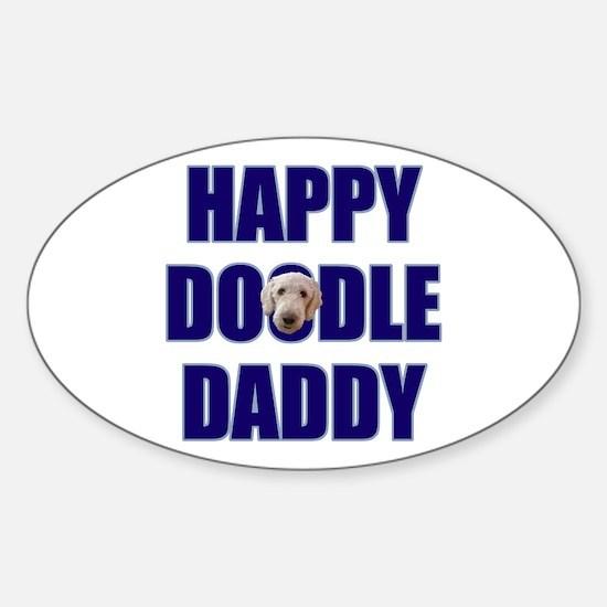 Goldendoodle Dad Sticker (Oval)
