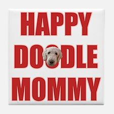Goldendoodle Mom Tile Coaster