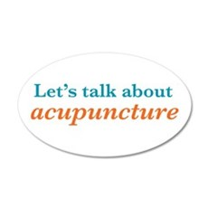 Talk Acupuncture 22x14 Oval Wall Peel