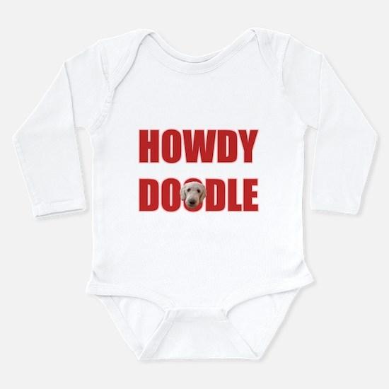 Howdy Goldendoodle Long Sleeve Infant Bodysuit