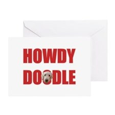 Howdy Goldendoodle Greeting Card
