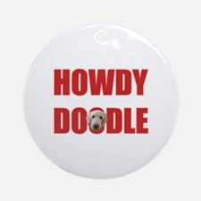 Howdy Goldendoodle Ornament (Round)