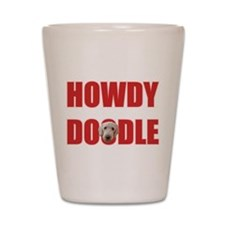 Howdy Goldendoodle Shot Glass