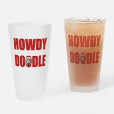 Howdy Goldendoodle Drinking Glass