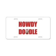 Howdy Goldendoodle Aluminum License Plate