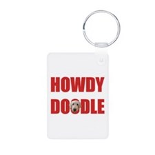 Howdy Goldendoodle Keychains