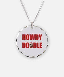 Howdy Goldendoodle Necklace