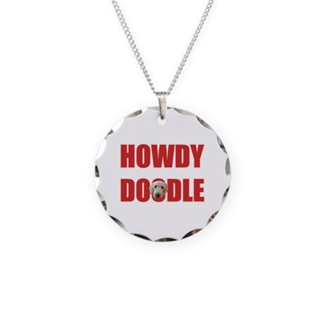 Howdy Goldendoodle Necklace Circle Charm