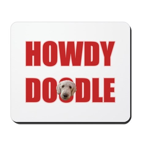 Howdy Goldendoodle Mousepad