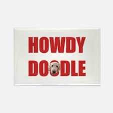 Howdy Goldendoodle Rectangle Magnet