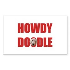 Howdy Goldendoodle Decal