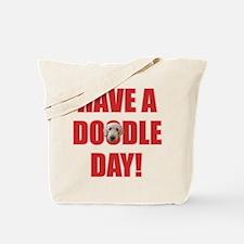 Doodle Day Goldendoodle Tote Bag