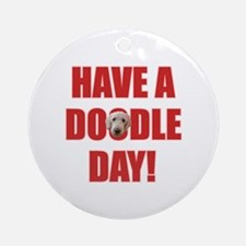 Doodle Day Goldendoodle Ornament (Round)