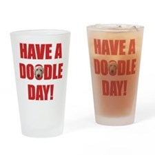 Doodle Day Goldendoodle Drinking Glass