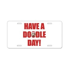 Doodle Day Goldendoodle Aluminum License Plate