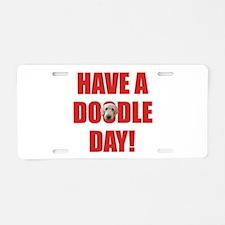 Doodle Day Goldendoodle Aluminum License Plate
