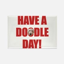 Doodle Day Goldendoodle Rectangle Magnet