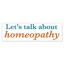 Talk Homeopathy Bumper Sticker