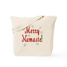 Yoga Christmas Tote Bag