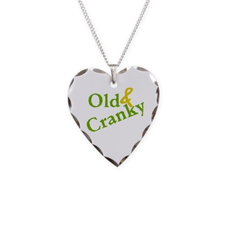 Old & Cranky Necklace Heart Charm