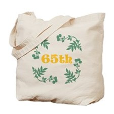 65th Birthday or Anniversary Tote Bag
