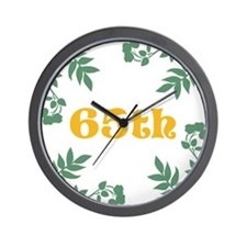 65th Birthday or Anniversary Wall Clock