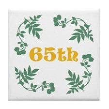 65th Birthday or Anniversary Tile Coaster