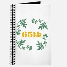 65th Birthday or Anniversary Journal