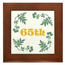 65th Birthday or Anniversary Framed Tile