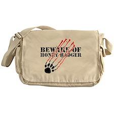 Beware of honey badger Messenger Bag