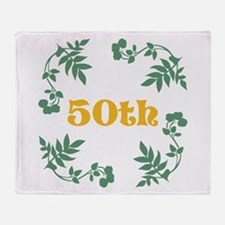 50th Birthday or Anniversary Throw Blanket