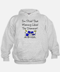Proof Mommy Liked Drummer (Bl Hoodie
