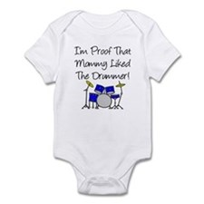 Proof Mommy Liked Drummer (Bl Infant Bodysuit