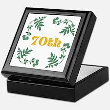 70th Birthday or Anniversary Keepsake Box