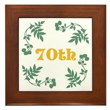 70th Birthday or Anniversary Framed Tile