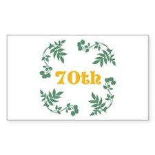 70th Birthday or Anniversary Decal