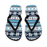 Retro Christmas Stripe Flip Flops