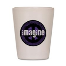 Imagine Peace Vintage Shot Glass